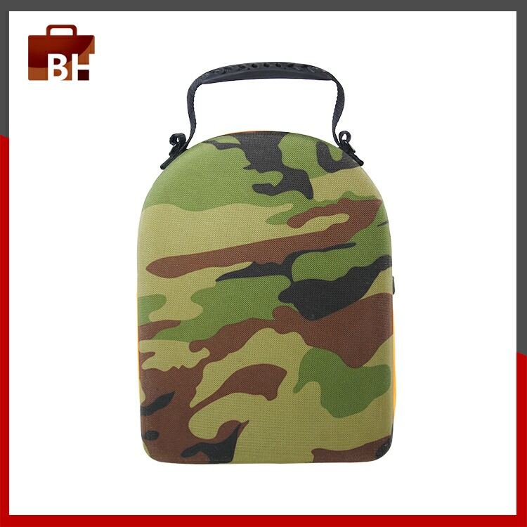 Camouflage Moulded EVA Cap Carrier With Handle